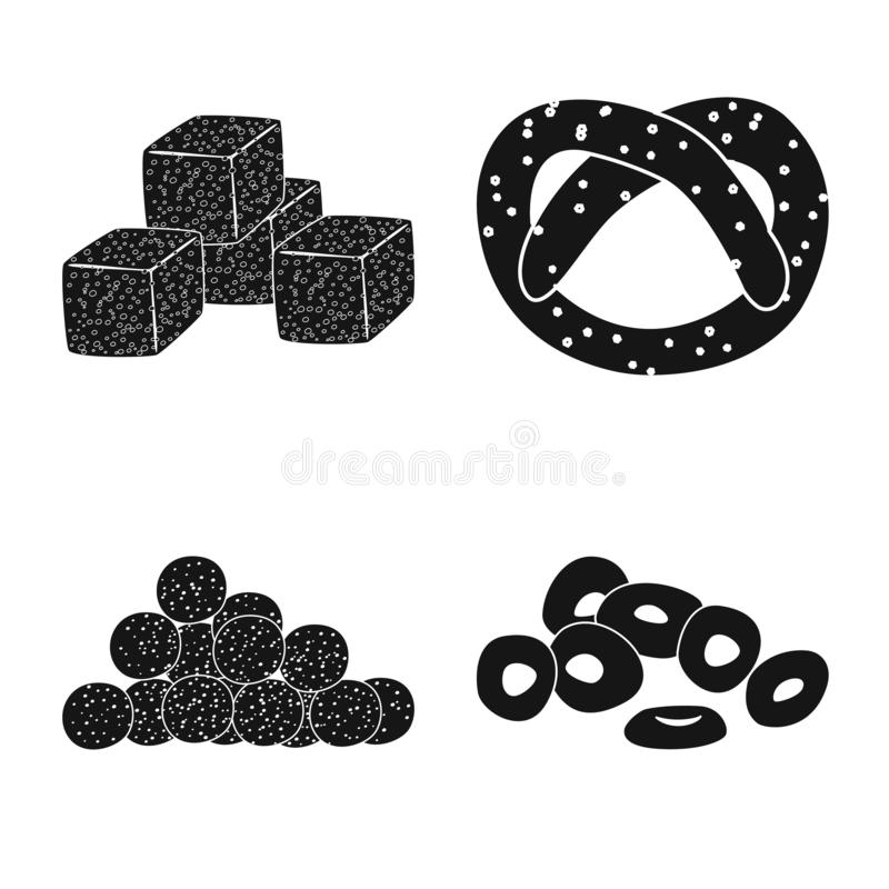 Isolated object of party and cooking icon. Set of party and crunchy stock symbol for web. Vector design of party and cooking symbol. Collection of party and royalty free illustration