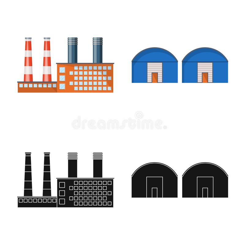 Isolated object of production and structure logo. Set of production and technology vector icon for stock. royalty free illustration