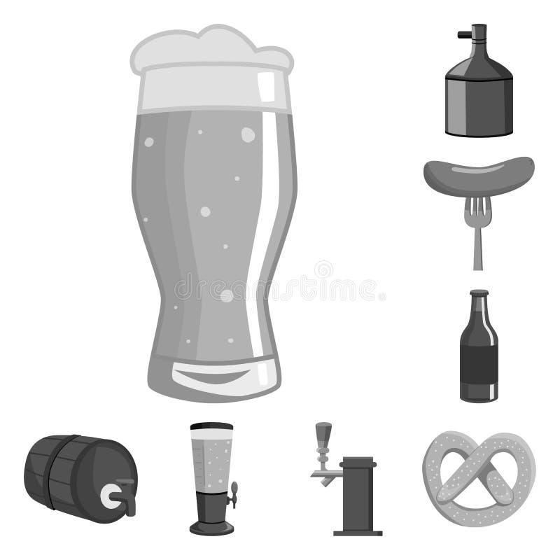 Vector design of restaurant and oktoberfest icon. Set of restaurant and brewing vector icon for stock. Vector illustration of restaurant and oktoberfest symbol royalty free illustration