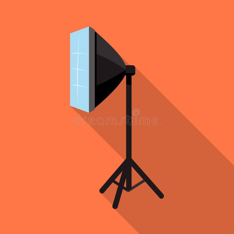 Vector design of softbox and spotlight logo. Set of softbox and technology vector icon for stock. vector illustration