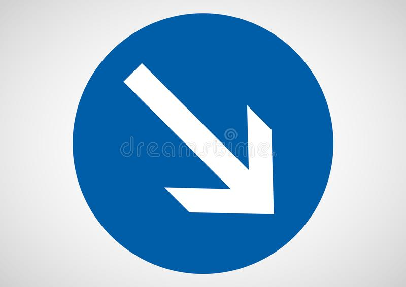 One Way Direction Sign Stock Vector Illustration Of Blue 112743023