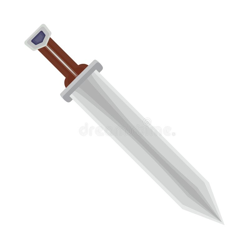 Isolated object of sword and dagger logo. Set of sword and weapon stock symbol for web. vector illustration