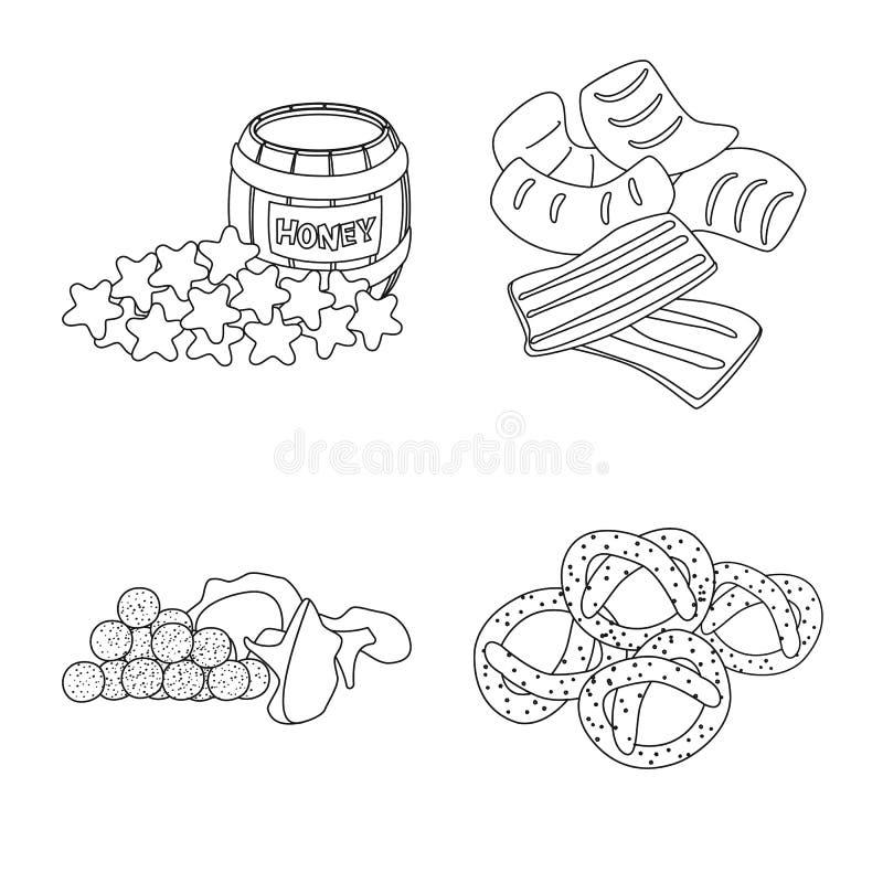 Vector design of taste and crunchy logo. Set of taste and cooking vector icon for stock. Vector illustration of taste and crunchy icon. Collection of taste and vector illustration