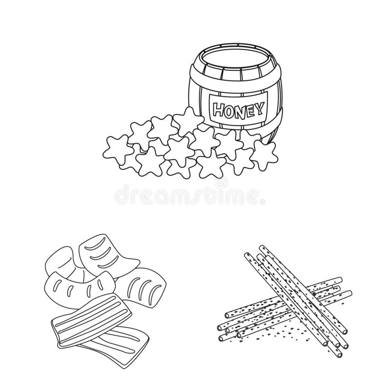 Isolated object of taste and crunchy icon. Set of taste and cooking stock symbol for web. Vector design of taste and crunchy symbol. Collection of taste and royalty free illustration