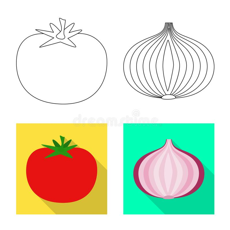 Vector design of taste and product icon. Collection of taste and cooking stock vector illustration. Vector illustration of taste and product symbol. Set of royalty free illustration