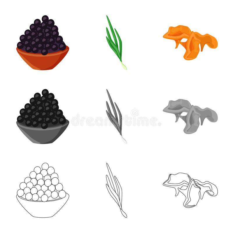 Isolated object of taste and product logo. Set of taste and cooking stock vector illustration. Vector design of taste and product icon. Collection of taste and stock illustration