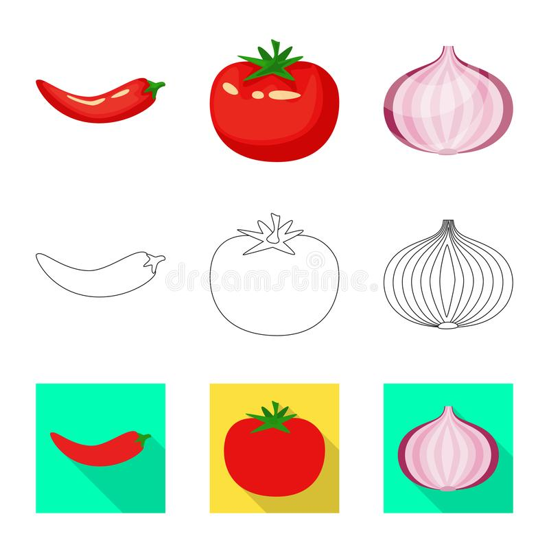 Vector design of taste and product logo. Collection of taste and cooking vector icon for stock. Vector illustration of taste and product icon. Set of taste and royalty free illustration