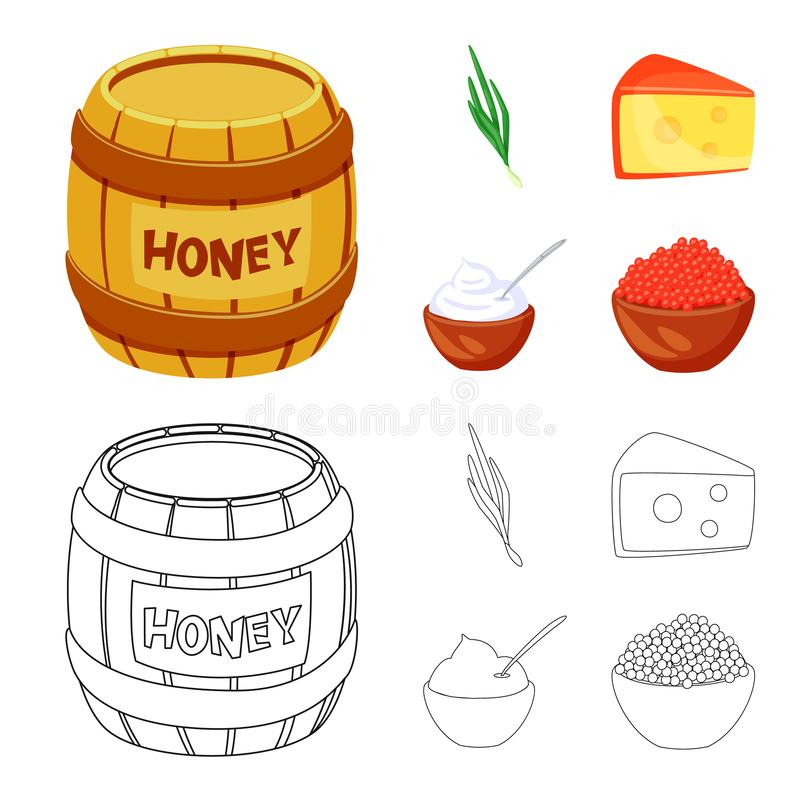 Isolated object of taste and product sign. Collection of taste and cooking stock symbol for web. Vector design of taste and product logo. Set of taste and vector illustration