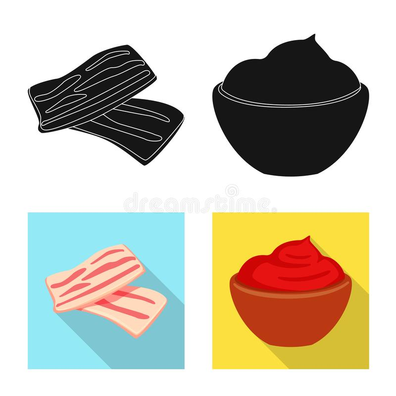 Vector design of taste and product sign. Set of taste and cooking stock symbol for web. Vector illustration of taste and product logo. Collection of taste and stock illustration