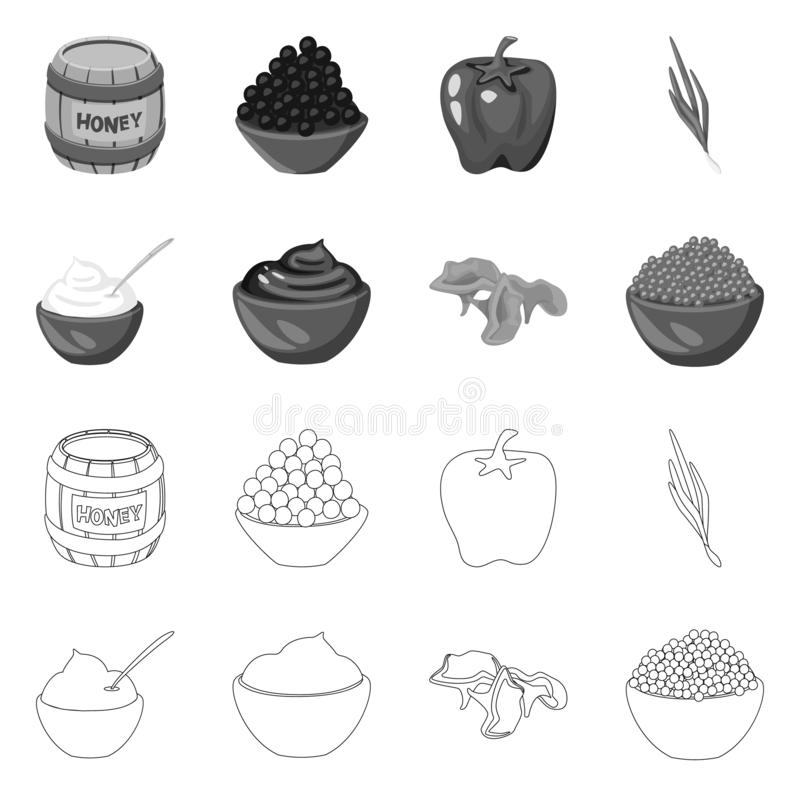 Isolated object of taste and product icon. Set of taste and cooking vector icon for stock. Vector design of taste and product symbol. Collection of taste and stock illustration