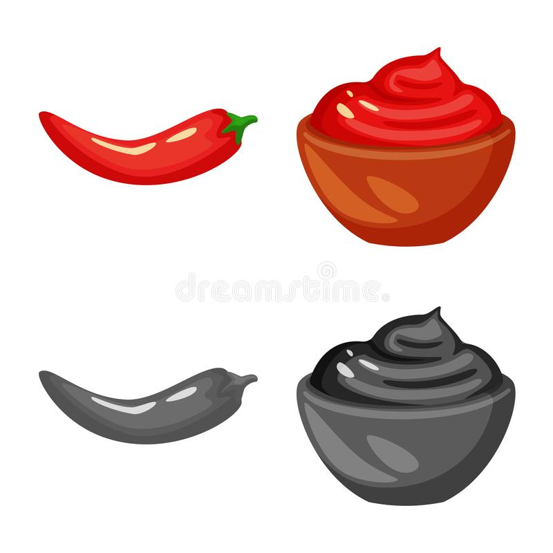 Isolated object of taste and product icon. Collection of taste and cooking vector icon for stock. Vector design of taste and product symbol. Set of taste and stock illustration