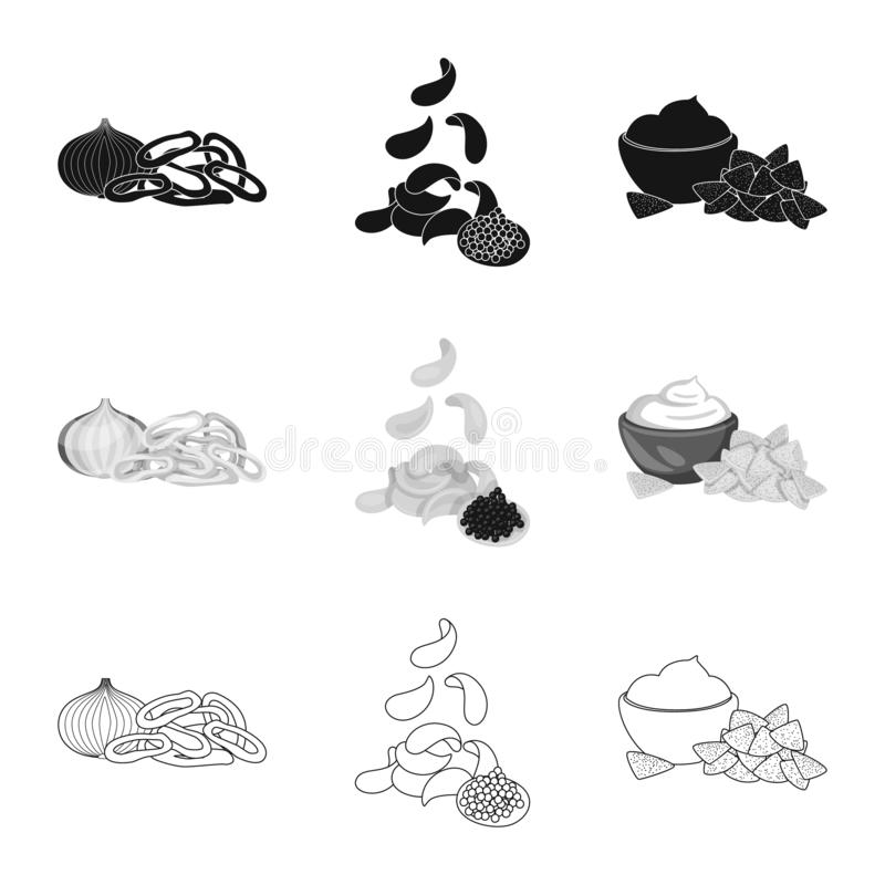 Vector design of taste and seasonin icon. Collection of taste and organic stock symbol for web. Vector illustration of taste and seasonin symbol. Set of taste stock illustration