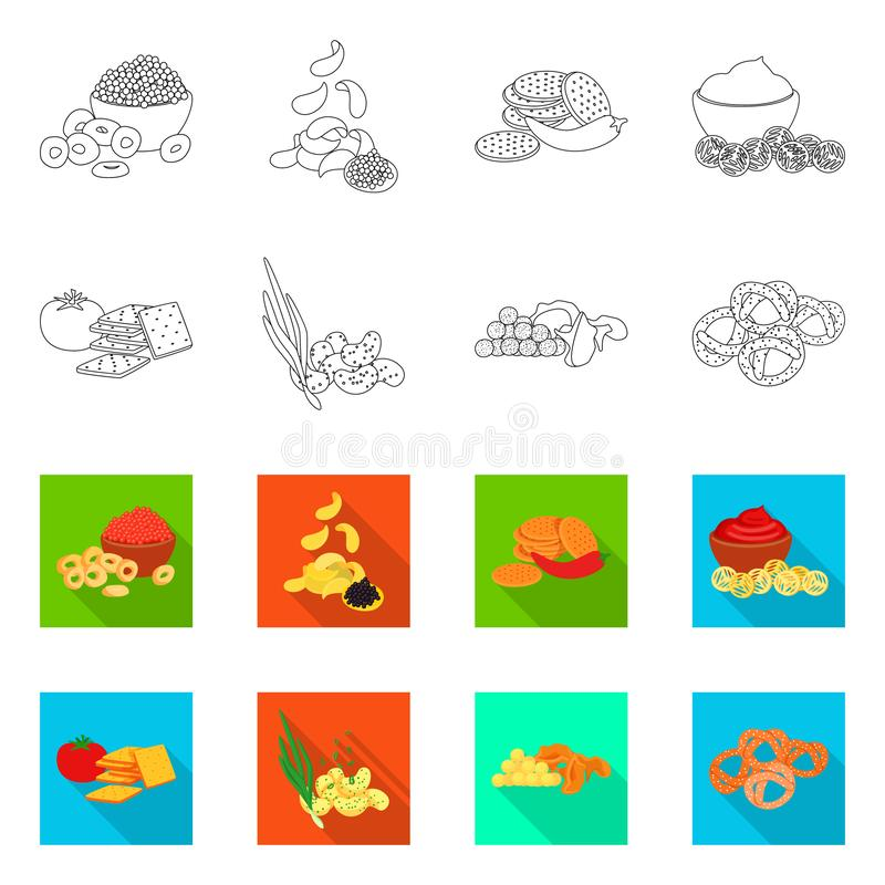 Isolated object of taste and seasonin logo. Set of taste and organic vector icon for stock. Vector design of taste and seasonin icon. Collection of taste and stock illustration