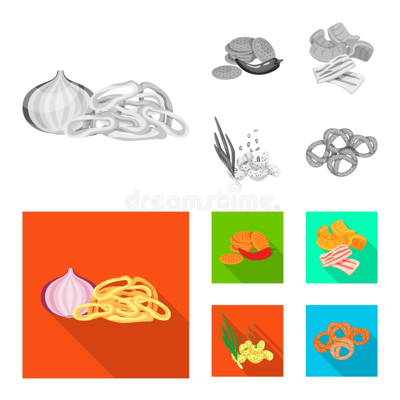 Isolated object of taste and seasonin logo. Collection of taste and organic vector icon for stock. Vector design of taste and seasonin icon. Set of taste and stock illustration