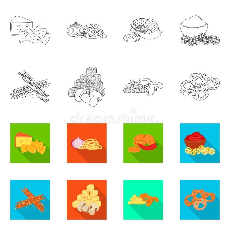 Vector design of taste and seasonin icon. Set of taste and organic   stock vector illustration. Vector illustration of taste and seasonin symbol. Collection of vector illustration