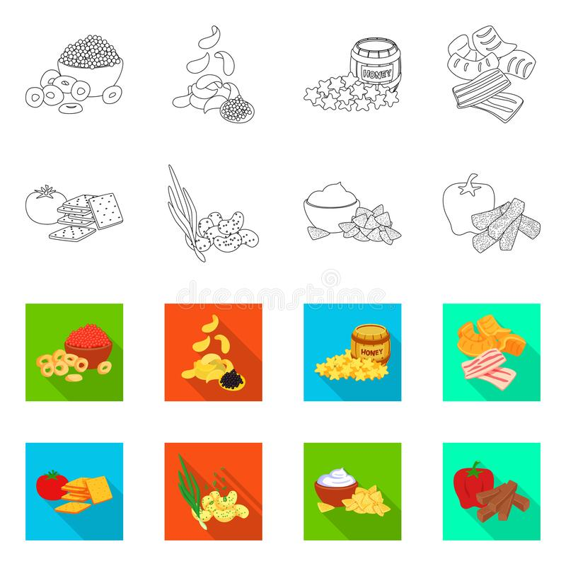Vector design of taste and seasonin logo. Collection of taste and organic   stock symbol for web. Vector illustration of taste and seasonin icon. Set of taste vector illustration