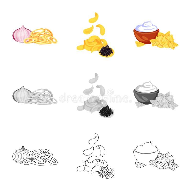Vector design of taste and seasonin logo. Set of taste and organic stock vector illustration. Vector illustration of taste and seasonin icon. Collection of stock illustration