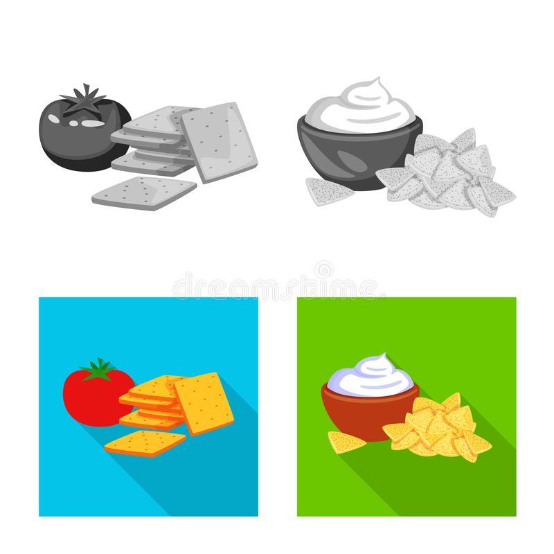 Isolated object of taste and seasonin sign. Collection of taste and organic   stock symbol for web. Vector design of taste and seasonin logo. Set of taste and vector illustration