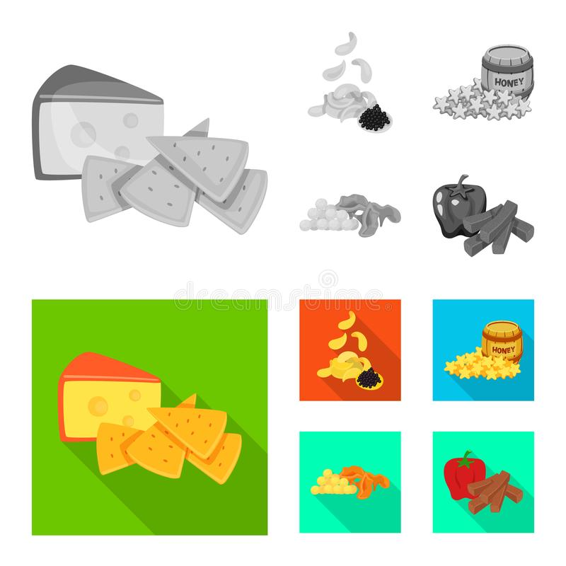 Isolated object of taste and seasonin icon. Collection of taste and organic stock vector illustration. Vector design of taste and seasonin symbol. Set of taste royalty free illustration