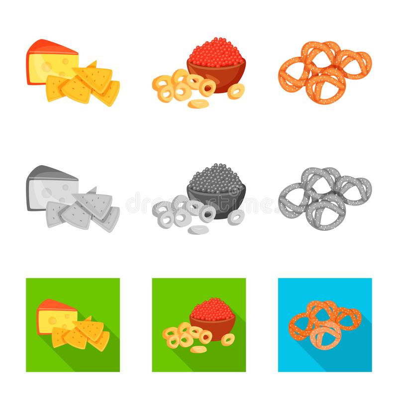 Vector design of taste and seasonin symbol. Set of taste and organic vector icon for stock. Vector illustration of taste and seasonin sign. Collection of taste royalty free illustration