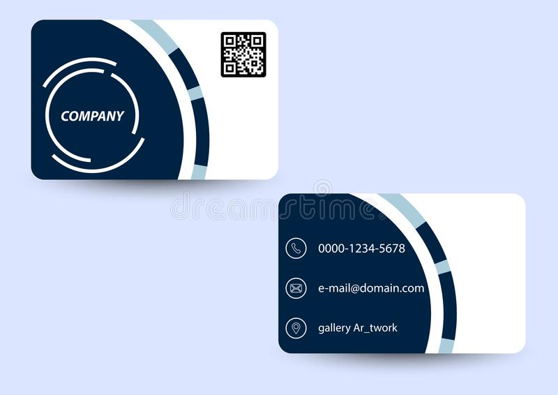 business card blue circle shape royalty free illustration