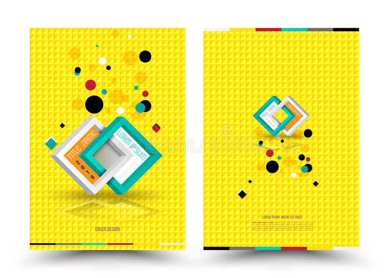 Vector design template for Cover Report Brochure Flyer Poster in A4 size royalty free illustration