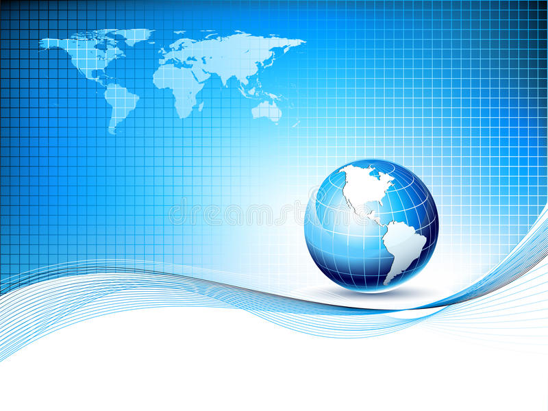 Vector design template with earth globe and map vector illustration