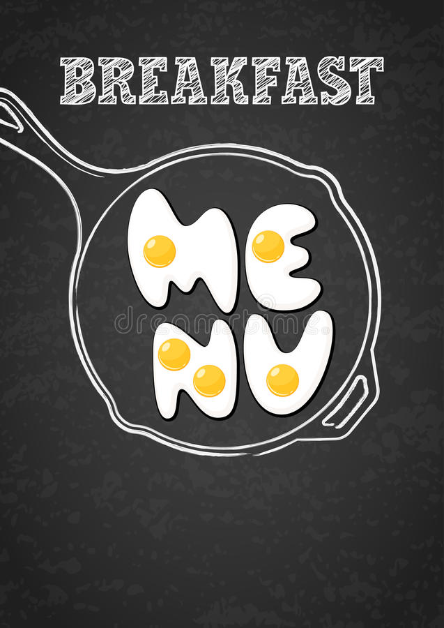 Free Vector Design Template For Breakfast Menu, Cafe, Restaurant. Stock Image - 69725101