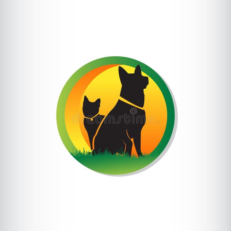 Vector design template for pet shops royalty free illustration