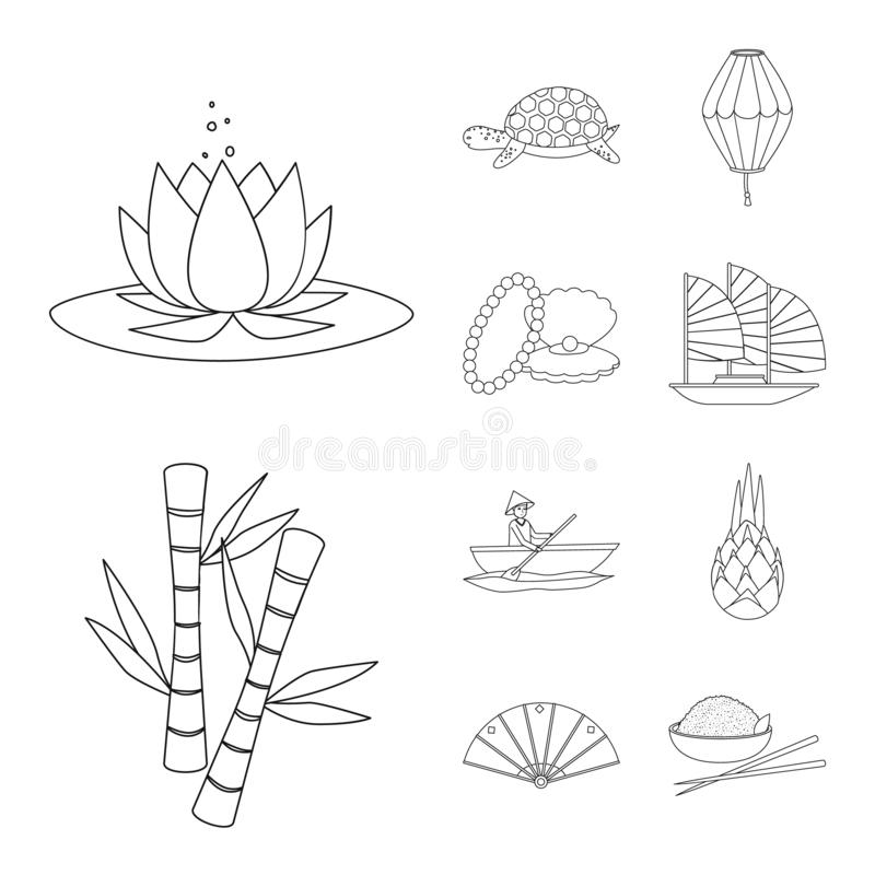 Vector design of traditional and travel logo. Collection of traditional and landmark vector icon for stock. royalty free illustration