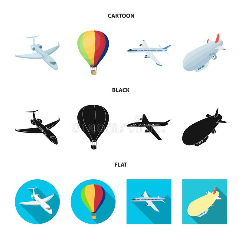 Isolated object of transport and object symbol. Collection of transport and gliding vector icon for stock. vector illustration