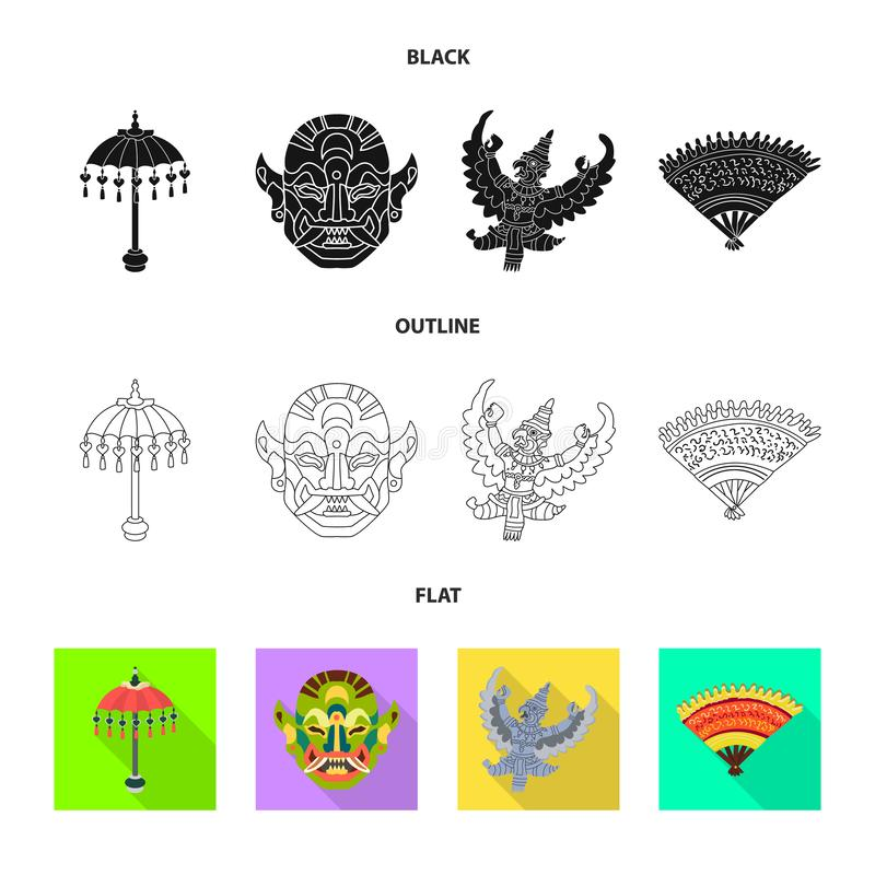 Vector design of and travel icon. Set of and traditional stock vector illustration. Vector illustration of and travel symbol. Collection of and traditional royalty free illustration