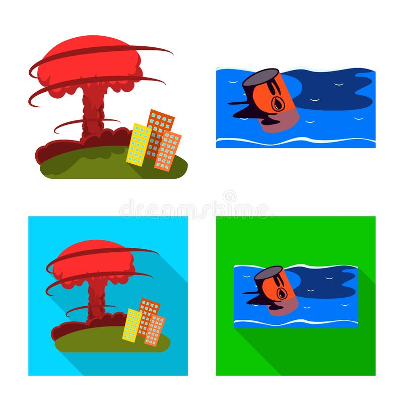 Isolated object of weather and distress symbol. Set of weather and crash vector icon for stock. Vector design of weather and distress sign. Collection of vector illustration