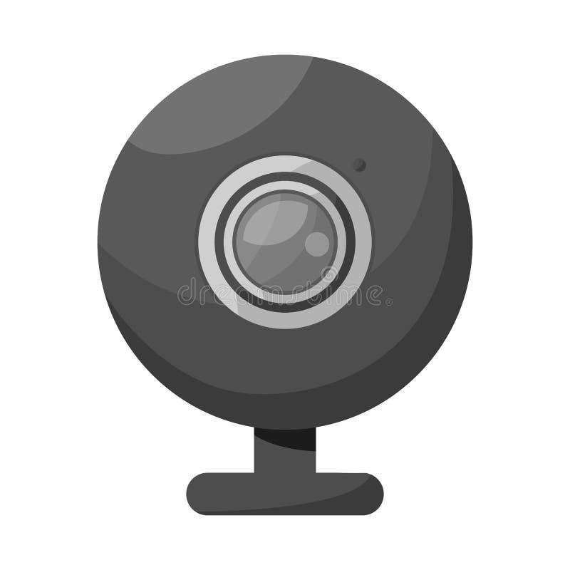 Vector design of webcam and video logo. Set of webcam and chat vector icon for stock. stock illustration