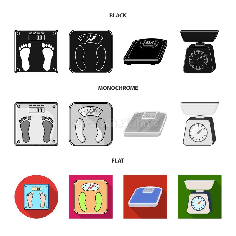 Isolated object of weight and lab logo. Collection of weight and kitchen stock symbol for web. Vector design of weight and lab icon. Set of weight and kitchen royalty free illustration