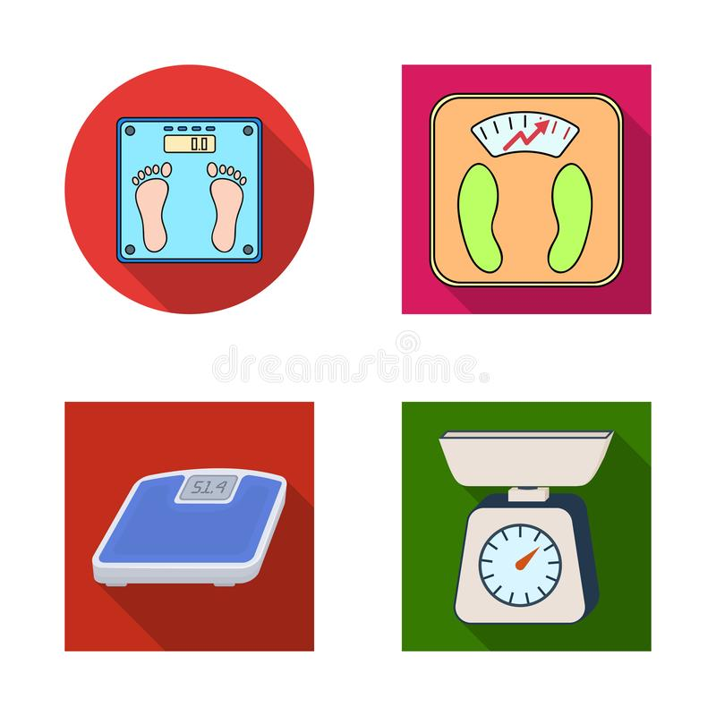 Vector design of weight and lab logo. Collection of weight and kitchen vector icon for stock. Vector illustration of weight and lab icon. Set of weight and royalty free illustration