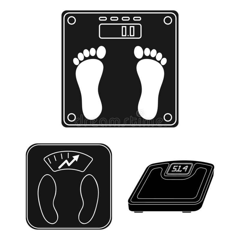 Isolated object of weight and lab sign. Collection of weight and kitchen vector icon for stock. Vector design of weight and lab logo. Set of weight and kitchen royalty free illustration