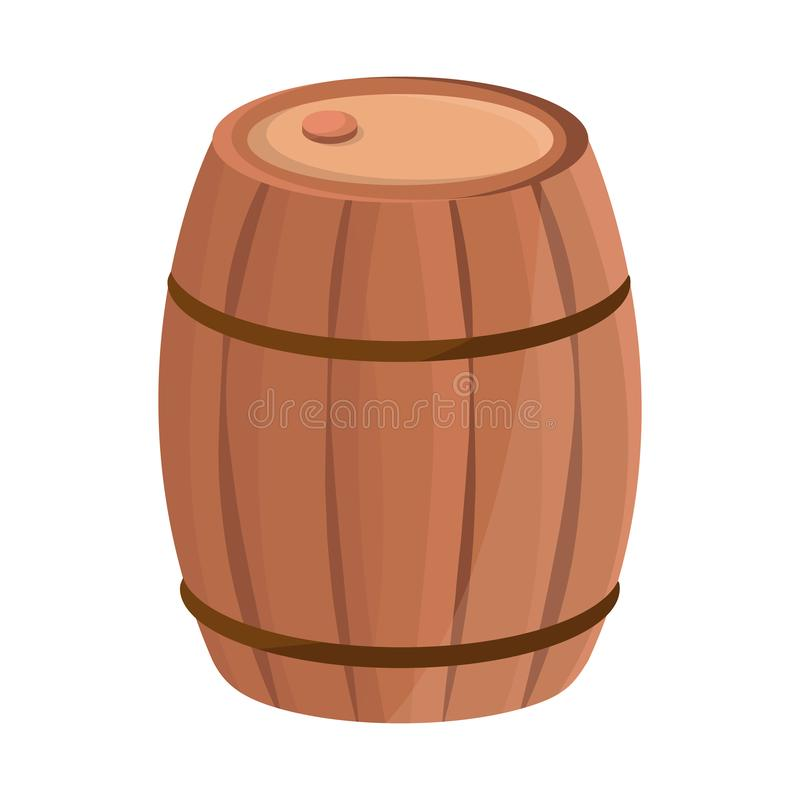 Vector design of wooden and barrel icon. Set of wooden and cask stock vector illustration. stock illustration