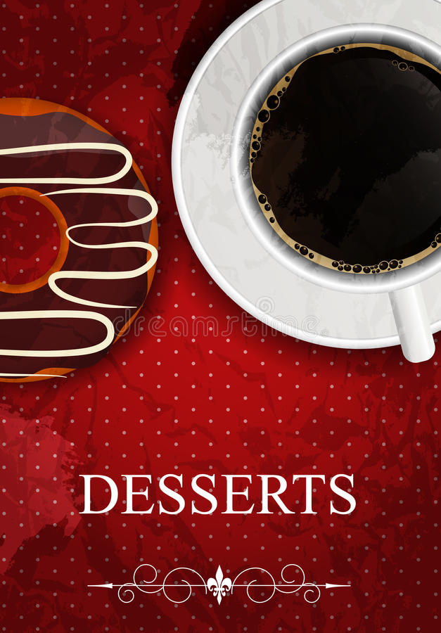 Download Vector dessert menu stock vector. Image of holiday, aged - 29292840