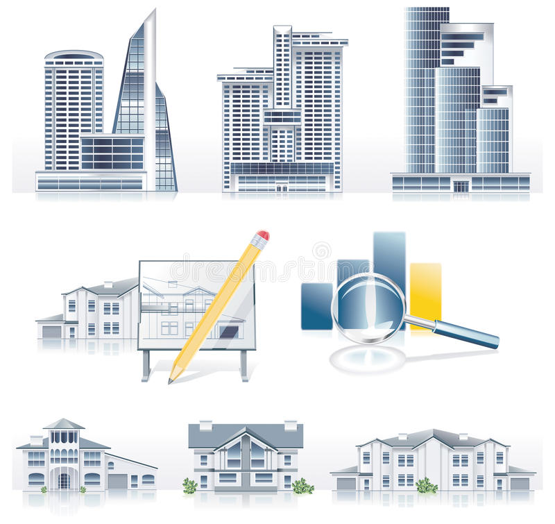 Download Vector Detailed Architecture Icon Set Stock Vector - Image: 9856865