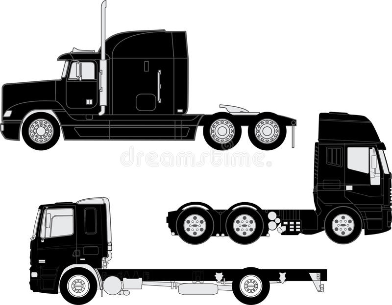 Download Truck silhouettes stock vector. Illustration of drawing - 29788132