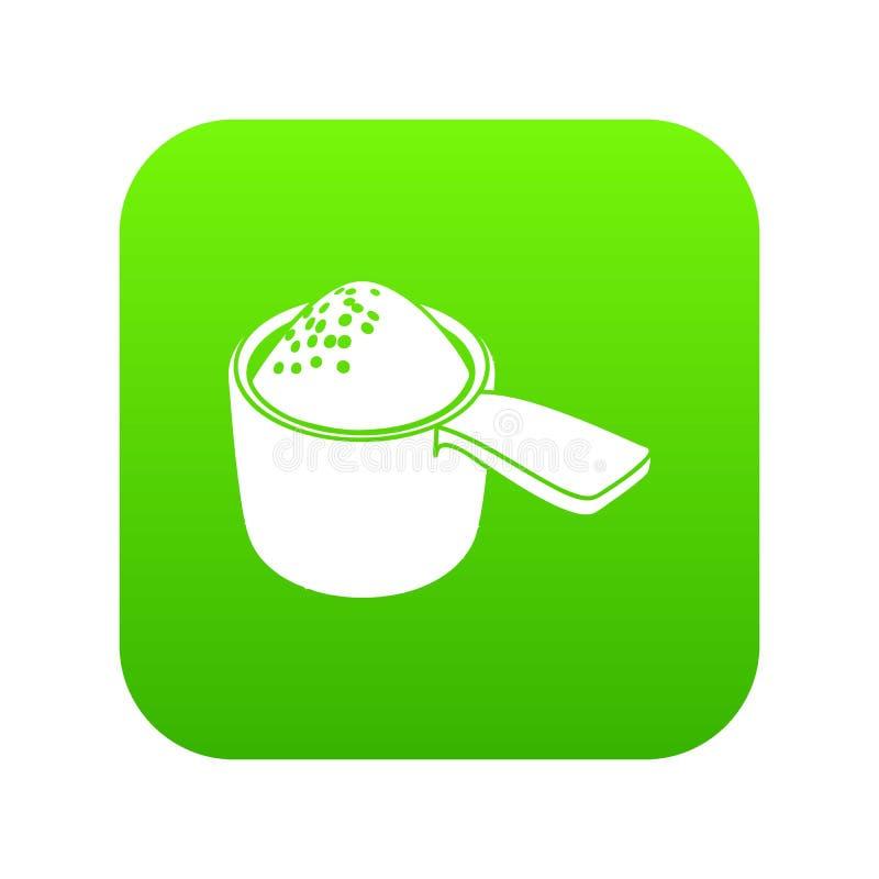 Vector detergente del verde del icono de la dosis libre illustration