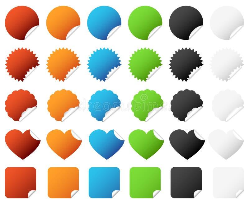 Vector determinado de la divisa de la etiqueta engomada libre illustration