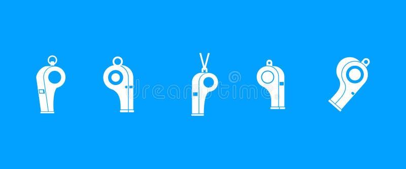 Vector determinado del azul del icono del silbido stock de ilustración
