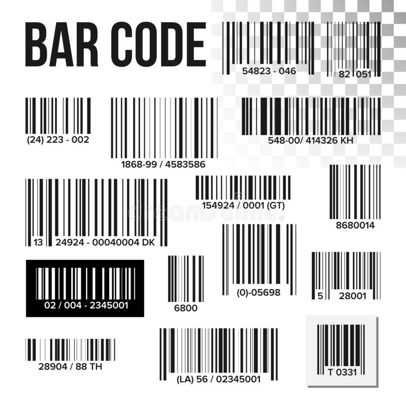 Vector determinado del código de barras Exploración del precio Etiqueta del producto Escáner del UPC de la información Lector de  libre illustration