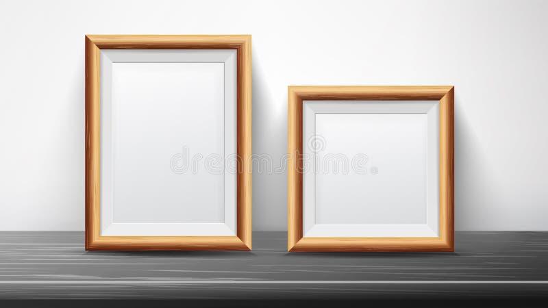 Vector determinado del marco negro realista Bueno para los carteles, presentaciones, exposición Ejemplo interior de moda stock de ilustración