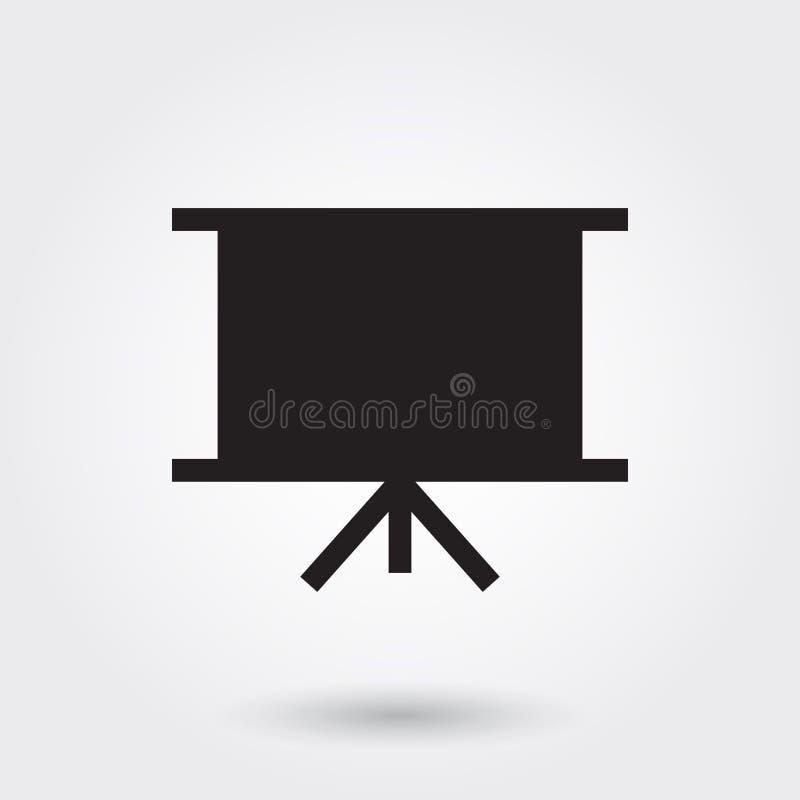 Vector, Dia, het Pictogram van Bedrijfspresentatieglyph perfect voor website, mobiele toepassingen, presentatie stock illustratie