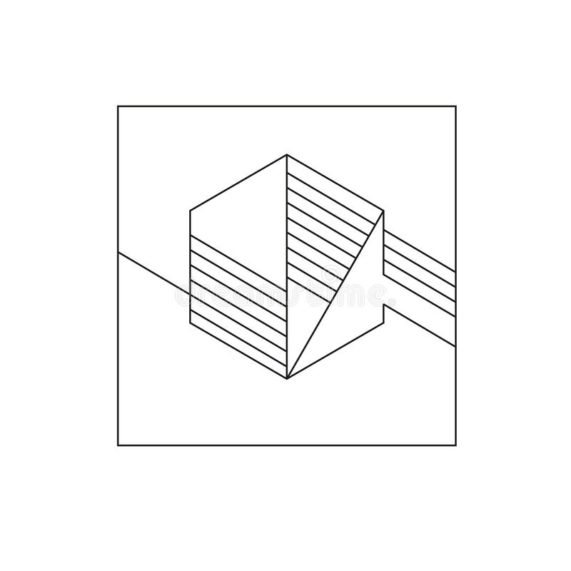 Vector diagonal geometric backdrop. royalty free stock photo