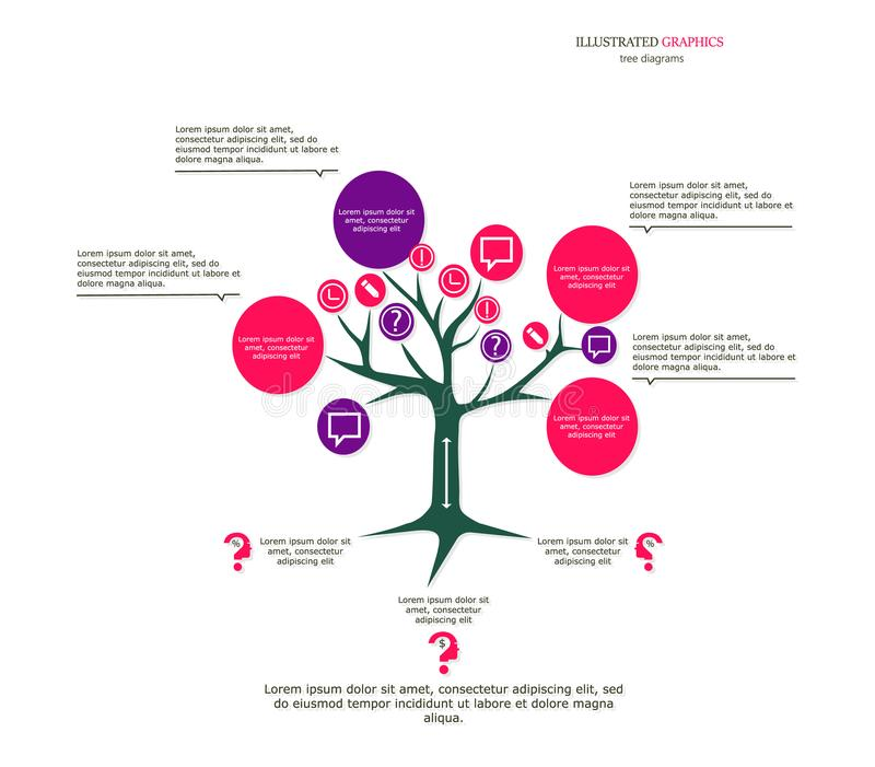 Illustrated Graphics For The Layout Workflow. Tree As A Business ...