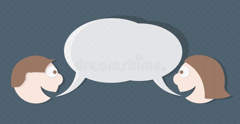 Download Vector Dialog Between Man And Woman Stock Photos - Image: 13749963